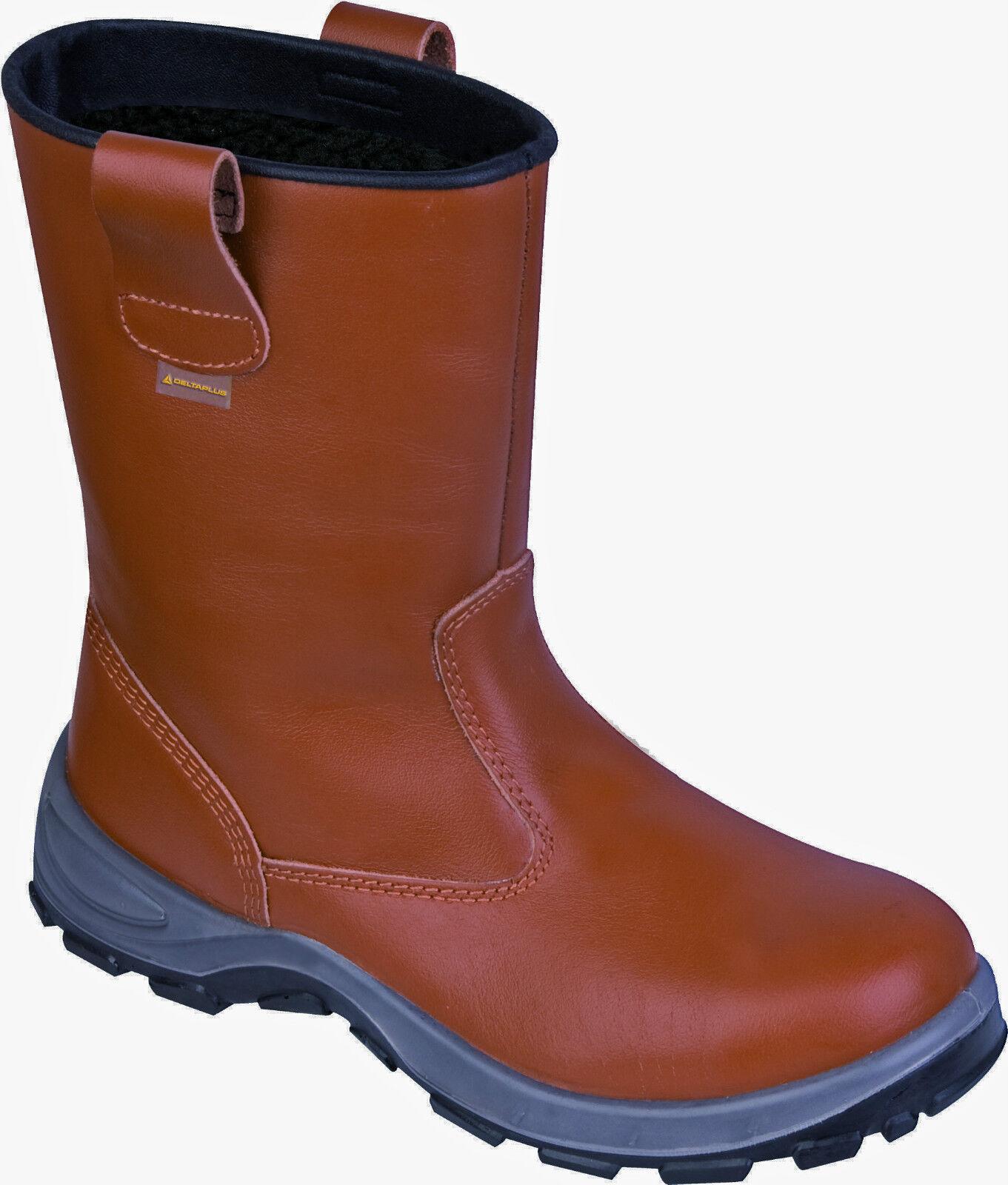 DELTA PLUS PLUS PLUS PANOPLY BEAR III S3 FREDDO lavoro TAN IMPERMEABILE Rigger Stivali di sicurezza b09012