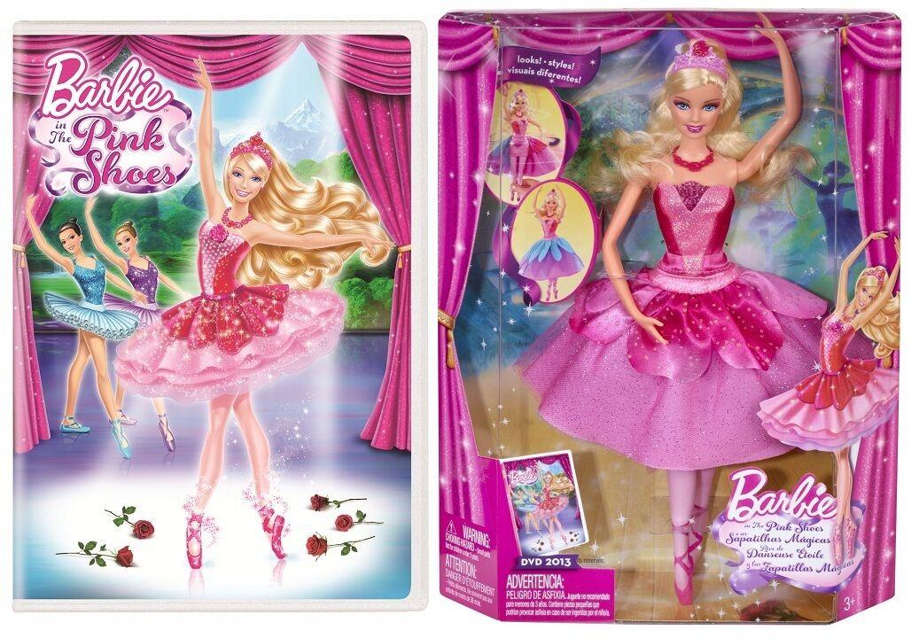 Barbie en los zapatos de Color rosado Muñeca Bailarina KRISTYN transformar