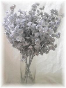 12 SILVER Silk Baby's Breath Bouquet Spray Wedding Flowers Fillers
