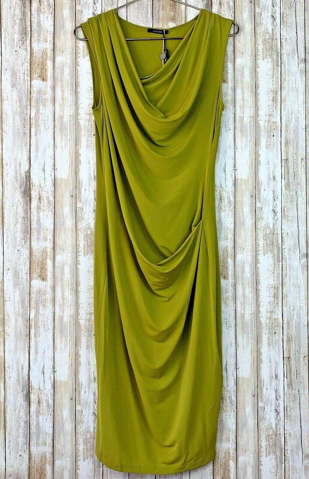 bilACTERE grön Acid modell Main Drape Draped Ruched Side US 8 IT 44 NWT