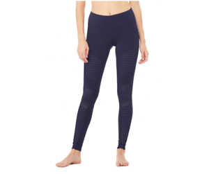 NWT - ALO YOGA Women's 'MOTO W5434R' Rich  Navy   Navy Glossy YOGA LEGGINGS - M  best choice