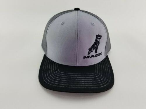 Mack Trucks Gray//Black//Charcoal with  3D Embroidery Snapback Cap//Hat trucker hat