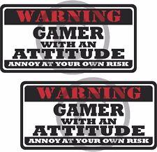"2 - 3"" Gamer Warning Tools Motorcycle Decal Hard Hat Sticker WS1"