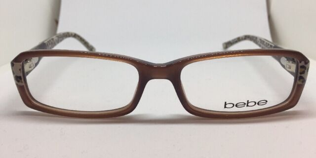 ea39d165a7 bebe Eyeglasses BB 5003 Panther Leopard Cat Crystal Jet 135 Accomplished  06 11