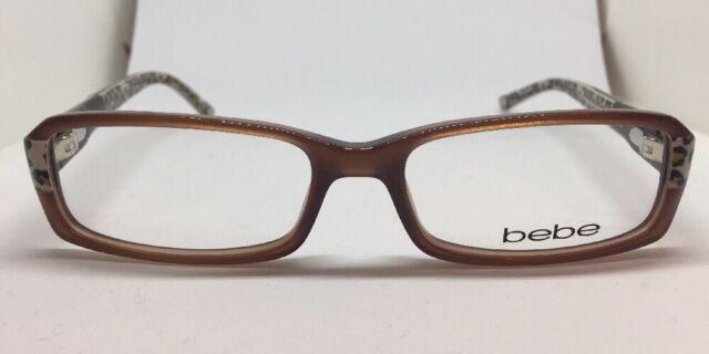 ea39d165a7 bebe Eyeglasses BB 5003 Panther Leopard Cat Crystal Jet 135 Accomplished  06 11