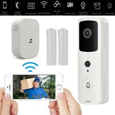 Wireless WiFi Smart Video Doorbell with Chime and 2 Batteries Two-Way Door Bell