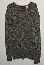 Polo Ralph Lauren Big and Tall Cream Black Ragg Crewneck Sweater NWT 3XLT