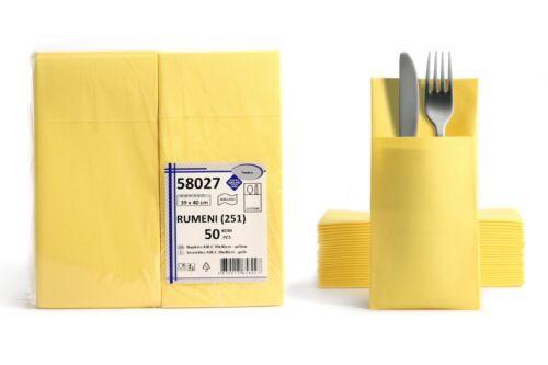 Airlaid Besteckservietten Bestecktaschen einfarbig 40x40 cm Stoffähnlich Premium