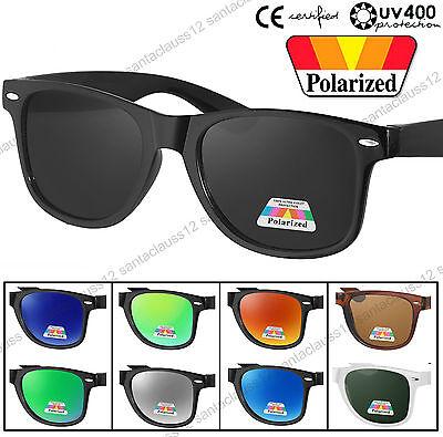 Quality Rectangular Shape Polarized Sunglasses Retro Vintage UV400 Womens Mens
