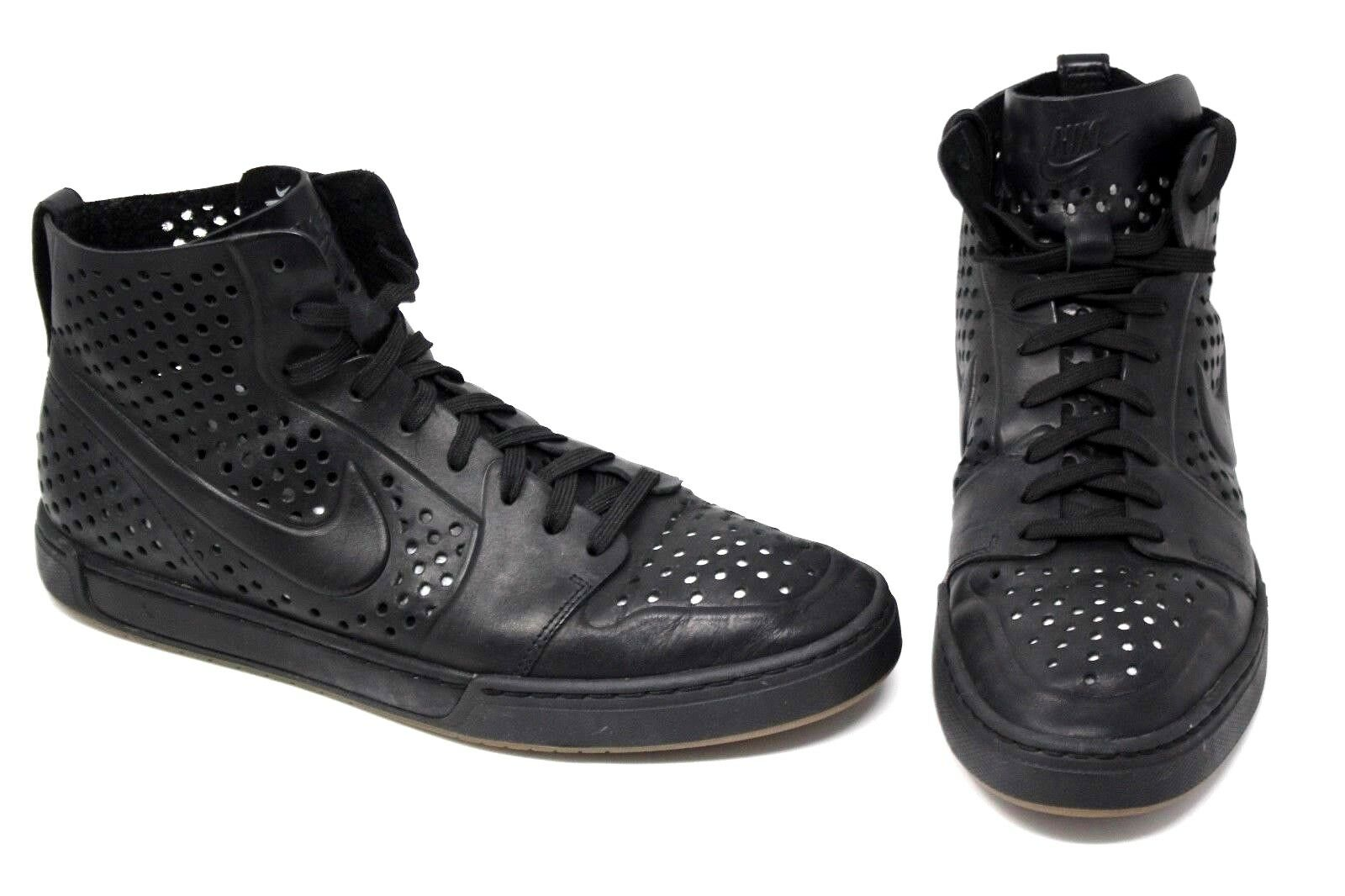 NIKE Air ROYAL Mid Lite VT OG Black Perforated Leather Men's Size 9.5 EUC