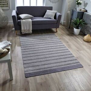 Details about Washable Pacific 126X STRIPED Mink Grey Anti-slip Kitchen Rug  Runner Door Mats