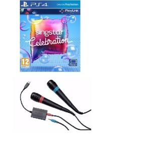 PS4-SINGSTAR-Celebrazione-GAME-2-Wired-MICROFONI-SING-STAR-consegna-rapida
