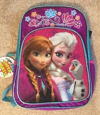 4e36912bc0b Disney Frozen Elsa Anna Olaf Glitter Super Lights - Light Up Backpack Book  Bag