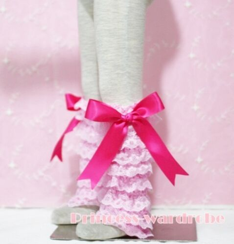 Baby Girl Light Pink Lace Leg Warmer Stocking Accessory For Pettiskirt 2-6Year
