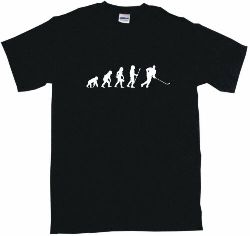 Evolution of Humans Hockey Player Logo Kids Tee Shirt Boys Girls Unisex 2T-XL