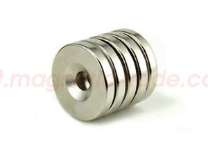 50 X Rare Earth Magnets 20mm x 4mm Countersunk Disc Hole N50 Neodymium Strong