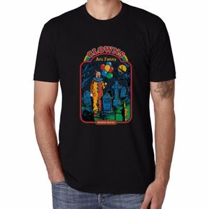 Clowns-Are-Pendant-Men-039-s-T-shirts-Funny-Cotton-Tops-Short-Sleeve-Casual-Tee