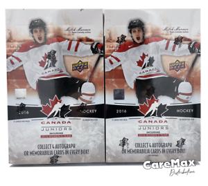 2016 Upper Deck Team Canada Juniors Hockey Hobby (2 box lot!)