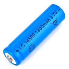 1 x Lithium Ionen Akku 3,7 V / 1300 mAh Typ 14500 Li ion 50 x 14 mm AA Größe