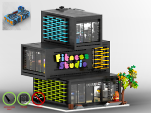 Modular-Ecke-Fitnessstudio-MOC-PDF-Bauanleitung-kompatibel-mit-LEGO-Steine