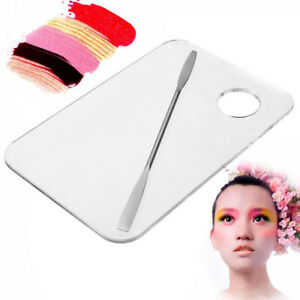 B7-Acrylic-Makeup-Cosmetic-Nail-Eye-Shadow-Mixing-Palette-Stainless-Spatula-Set