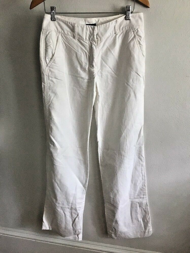 J Crew Pants womens Size 6T Tall Favorite Fit White Linen Full Leg