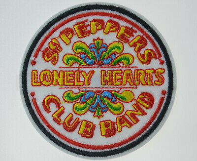 Peppers Drum Patch Lonely Hearts Woven Sew On Applique The Beatles Sgt