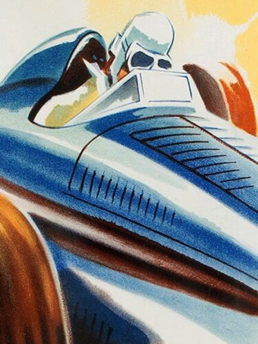 20x28 1938 ACF Grand Prix Vintage Style Auto Racing Poster