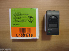 BTICINO L4301/16 Living international interruttore magnetotermico 1P+N 16A 3KA