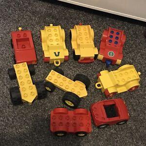LEGO-DUPLO-Vehicules-9x-voitures-Tracteurs-Remorques-Bundle-Job-Lot