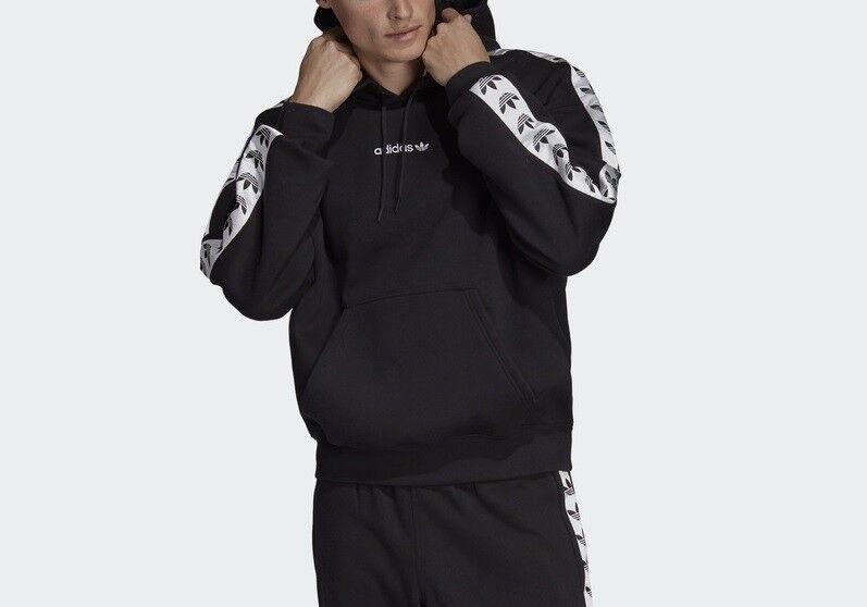 Adidas Originals TNT Tape Black White Sweatshirt Hoody Hoodie Top Jacket