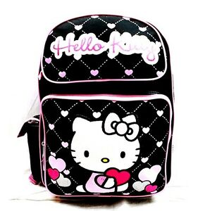 e704d426205b Image is loading Sanrio-Hello-Kitty-Girls-16-034-Canvas-Black-
