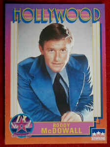 Hollywood Walk Of Fame - Card #104 - Roddy McDowall - Starline 1991