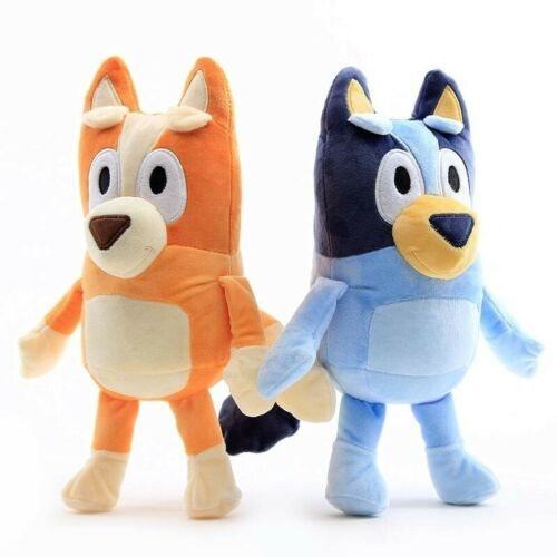 Details about  /2PCS Pack Toys Figures TV Bluey and Bingo Puppy Plush Stuffed Soft Cartoon Toy
