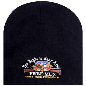 bdacc0244d2f12 Right to Bear Arms Free Men 2nd Amendment Eagle Rifle Beanie ...
