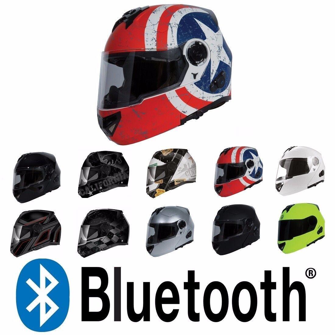 Torc T27b Bluetooth Modular Flip Up Motorcycle Helmet Dot Ece