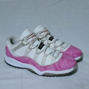 b8260a7f90c8ea Nike Air Jordan 11 xi Snakeskin Pink Low Shoes Georgetown Concord ...