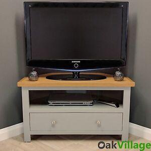 Charming Image Is Loading Greymore Painted Corner TV Unit Oak Grey Media