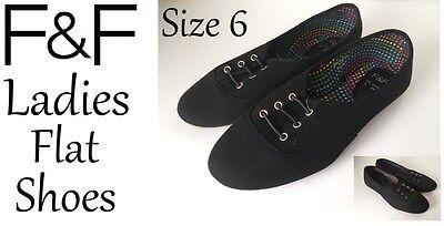 Zapatos planos señoras Negro Talla 6 Nuevo con etiquetas Envío Gratis