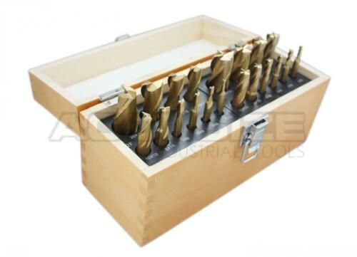 Accusize Industrial Tools 20 Pc H.S.S Metric... Tin Coated End Mill Set