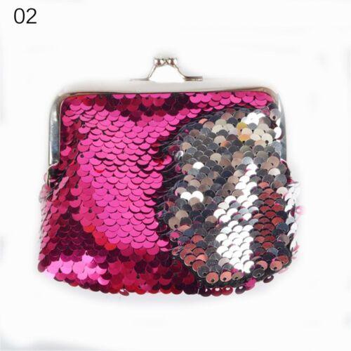 Fashion Women Sequins Buckle Mini Change Coin Purse Clutch Handy Mini Key Bag