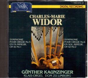 Widor: Sinfonie Für Orgel N.5 & 6/Gunther Kaunzinger - CD