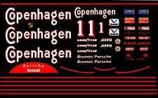 #1 AJ Foyt Copenhagen Porsche 962 1988 1/24th - 25th Scale Waterslide Decals