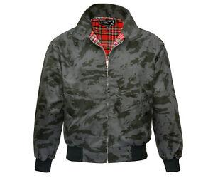 Heavy-Harrington-Jacket-Tartan-Lined-Russian-Night-Camo-Punk-Skinhead-Jacke-Army