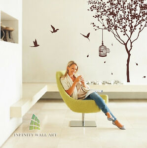Wall-Stickers-Art-Murals-Decals-Home-Vinyl-Tree-Flower-Kids-Butterfly-Decor-P414