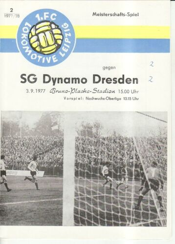 FC Lok Leipzig SG Dynamo Dresden OL 77//78  1