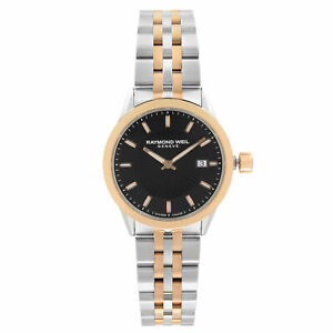 Raymond Weil Freelancer Two-Tone Steel Black Dial Ladies Watch 5629-SP5-20021