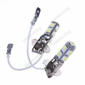 2x-H3-9-SMD-LED-SUPER-WHITE-XENON-Upgrade-Headlight-Fog-Light-Bulbs-Lamps-12V-UK
