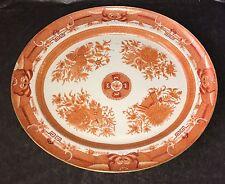 """Rare Antique Chinese Export Orange Fitzhugh 20"""" Platter"""