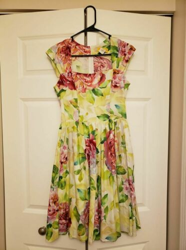 Bernie Dexter Veronique Blush Cabbage Rose dress s